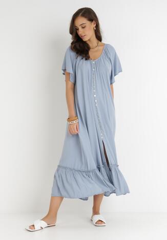 Niebieska Sukienka Huzea