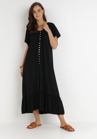 Czarna Sukienka Huzea