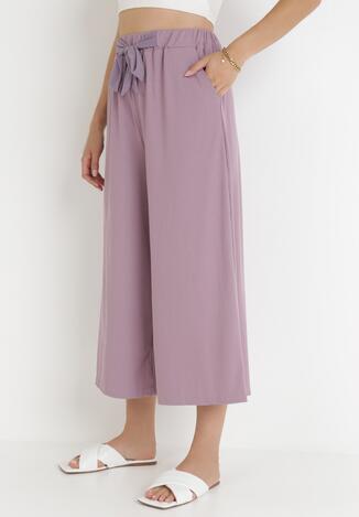 Liliowe Spodnie Dezirria