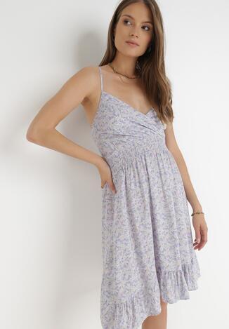 Liliowa Sukienka Chragny