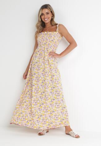 Różowo-Żółta Sukienka Kiryasda