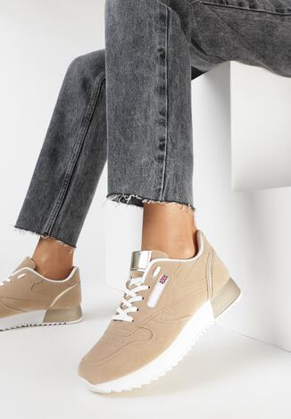 Ciemnobeżowe Sneakersy Kazyxe