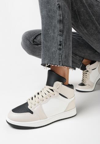 Beżowo-Czarne Buty Sportowe Prosedice