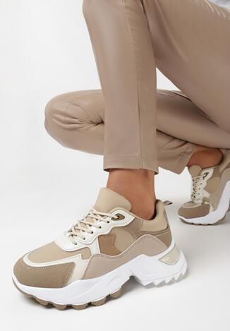 Ciemnobeżowe Sneakersy Daexo