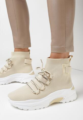 Beżowe Sneakersy Mephophi