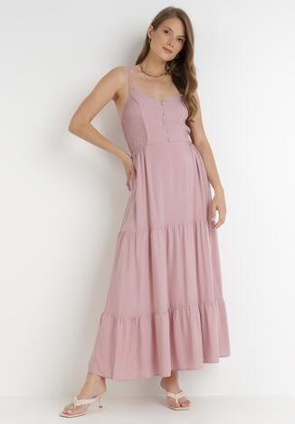 Ciemnoróżowa Sukienka Marrenea