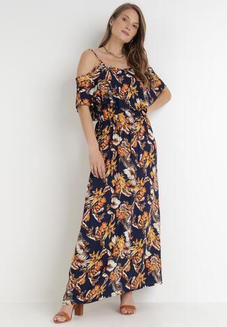 Granatowa Sukienka Phane