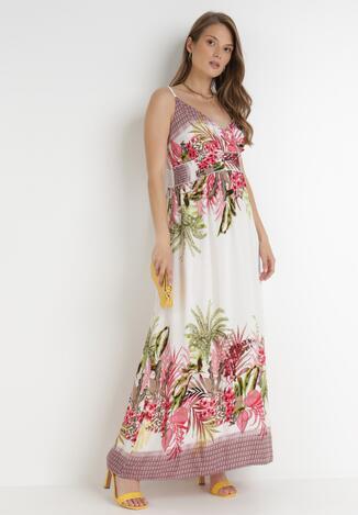 Biało-Różowa Sukienka Mystithea