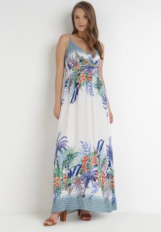 Biało-Niebieska Sukienka Mystithea