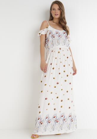 Biała Sukienka Xaemanea