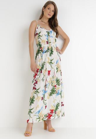 Biała Sukienka Savaropheu