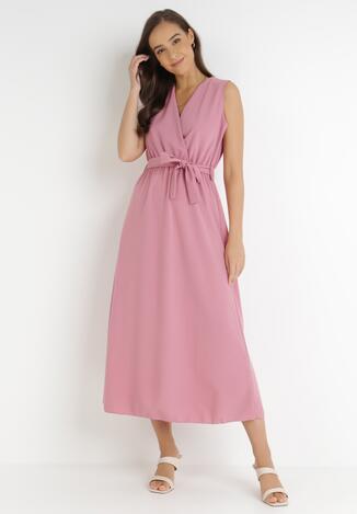 Ciemnoróżowa Sukienka Ocearith