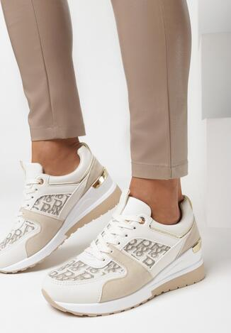 Beżowe Sneakersy Helesia
