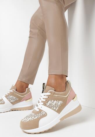 Ciemnobeżowe Sneakersy Helesia