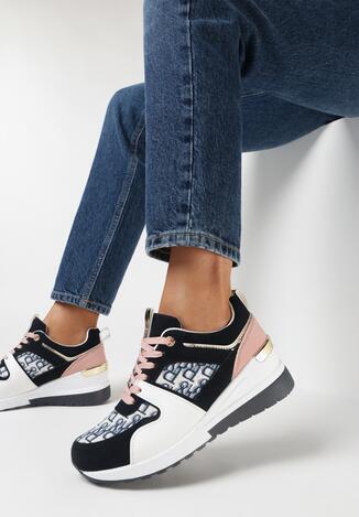 Granatowe Sneakersy Helesia