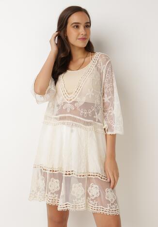 Jasnobeżowa Sukienka Nedatai