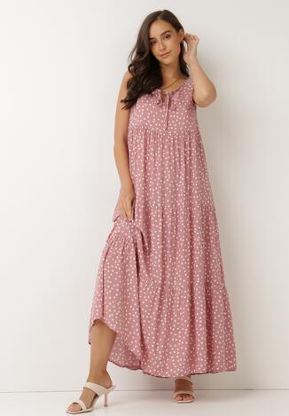 Różowa Sukienka Aigamia