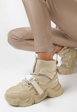 Ciemnobeżowe Sneakersy Eudorissa
