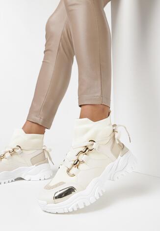 Beżowe Sneakersy Teremisia