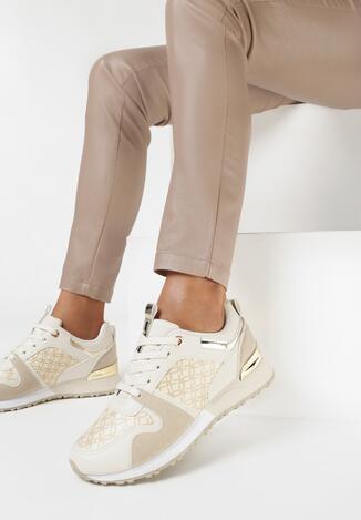 Beżowe Sneakersy Raenora