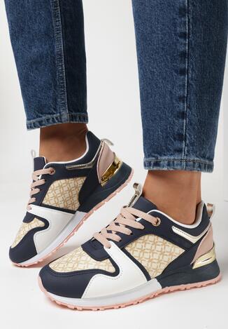 Granatowe Sneakersy Raenora