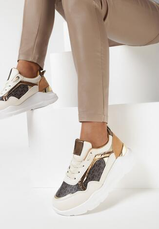 Beżowe Sneakersy Agamona