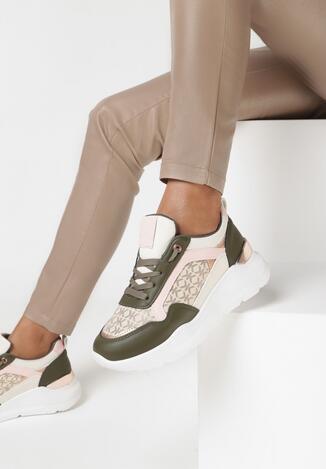 Oliwkowe Sneakersy Agamona