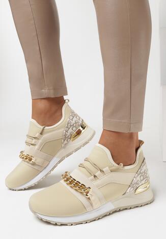 Beżowe Sneakersy Collia