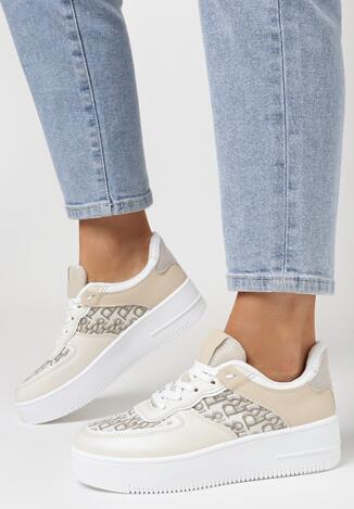 Beżowe Sneakersy Callinos