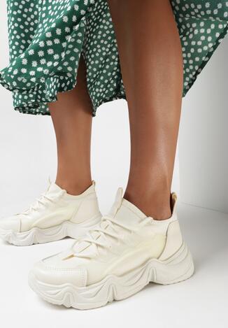 Beżowe Sneakersy Xephira