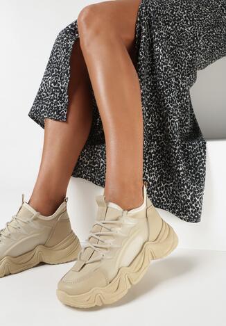 Ciemnobeżowe Sneakersy Xephira