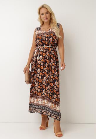 Granatowa Sukienka Melailia