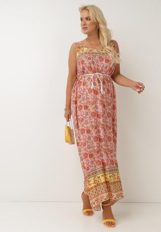 Różowa Sukienka Melailia