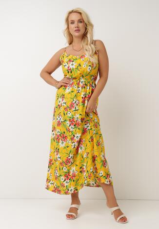 Żółta Sukienka Adorene