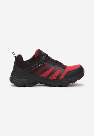 Czarno-Czerwone Buty Sportowe Heno