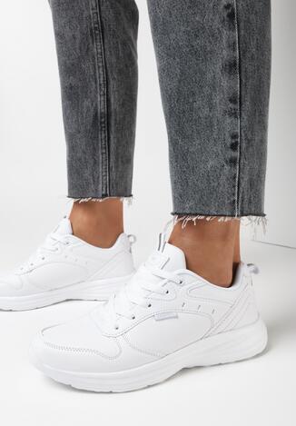 Białe Buty Sportowe Helien