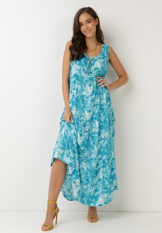 Niebieska Sukienka Olyndia