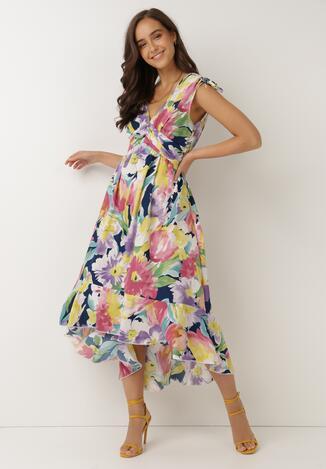 Fioletowa Sukienka Calathea