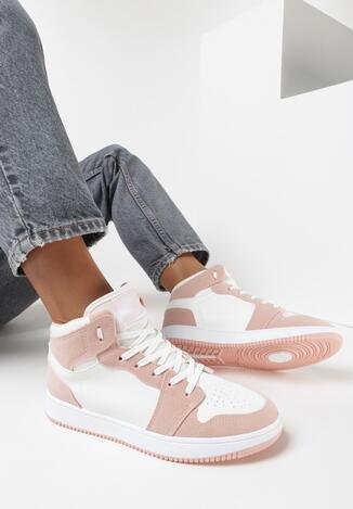 Biało-Różowe Sneakersy Veledoc