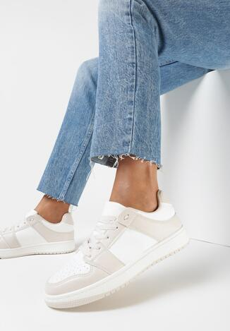 Biało-Beżowe Sneakersy Treman