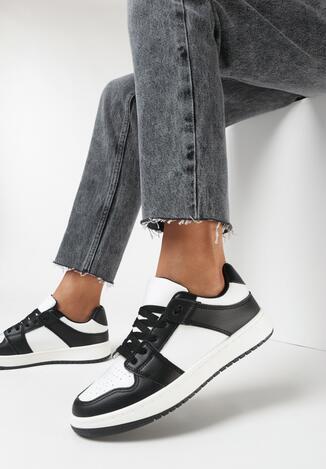 Biało-Czarne Buty Sportowe Treman