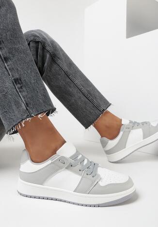 Biało-Szare Sneakersy Treman