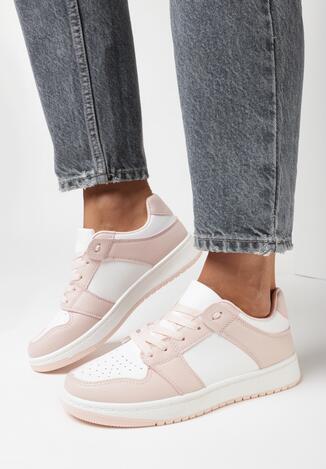 Biało-Różowe Sneakersy Treman