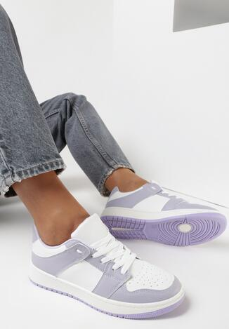 Biało-Liliowe Buty Sportowe Treman