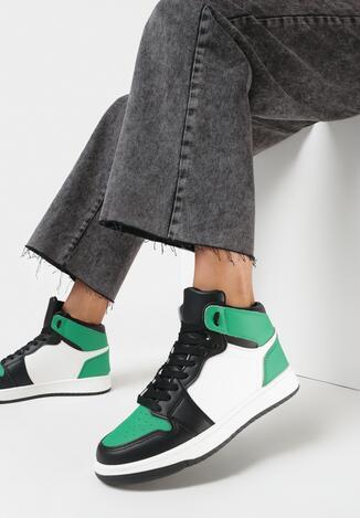 Czarno-Zielone Sneakersy Andanna