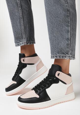 Czarno-Różowe Sneakersy Andanna