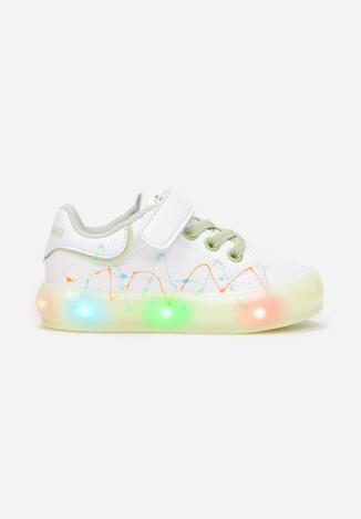 Białe Buty Sportowe LED Hoelenez