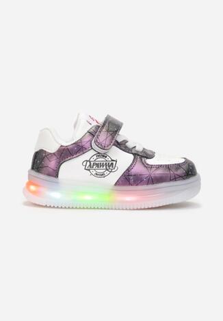 Fioletowe Buty Sportowe LED Genenig