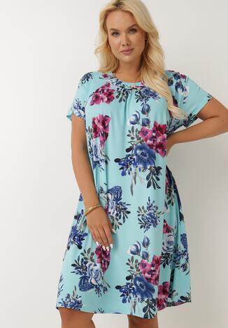Jasnoniebieska Sukienka Dodnusea