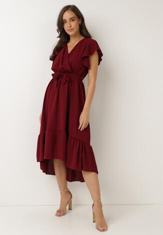 Bordowa Sukienka Ocearis